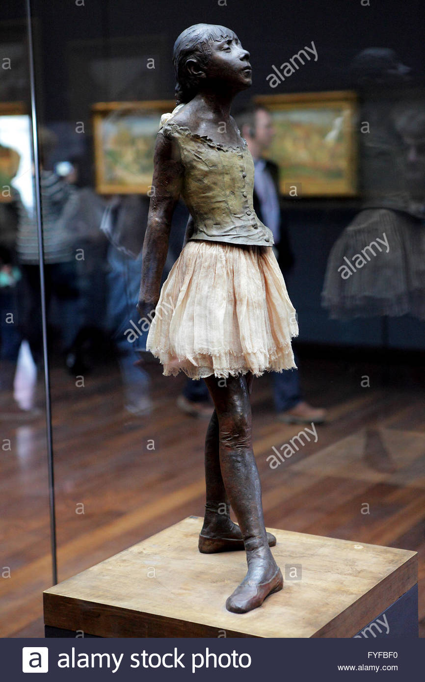 The Little Dancer by Degas in Musee d'Orsay, Paris - Stock Image