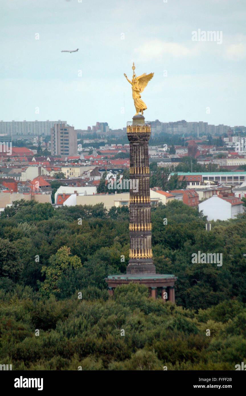die Siegessaeule, Berlin-Tiergarten. - Stock Image