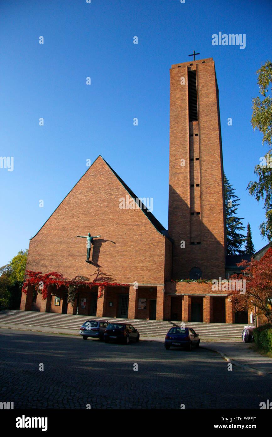 Jesus-Christus-Kirche, Berlin-Dahlem. - Stock Image