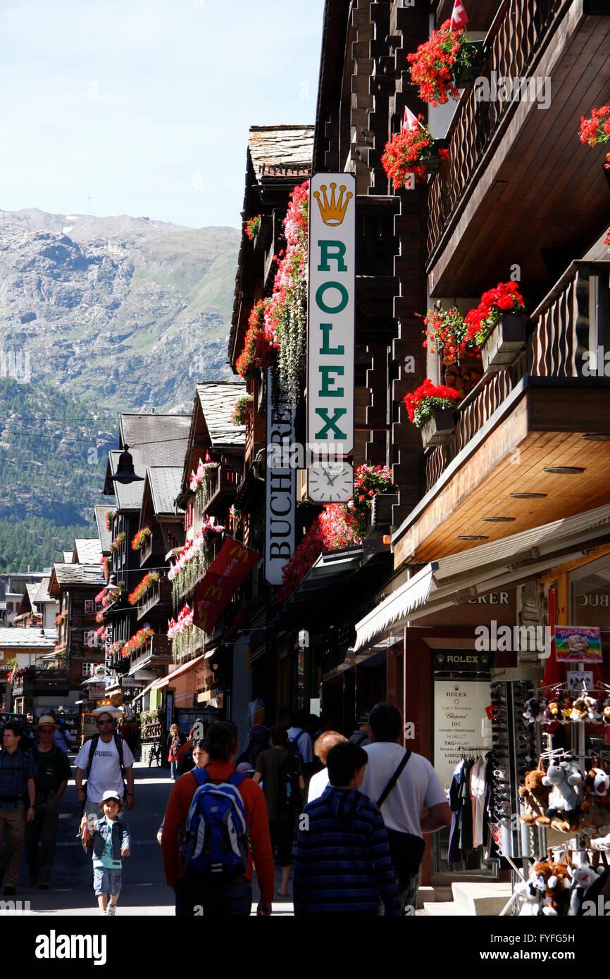 Zermatt, Wallis, Schweiz/ Switzerland. - Stock Image