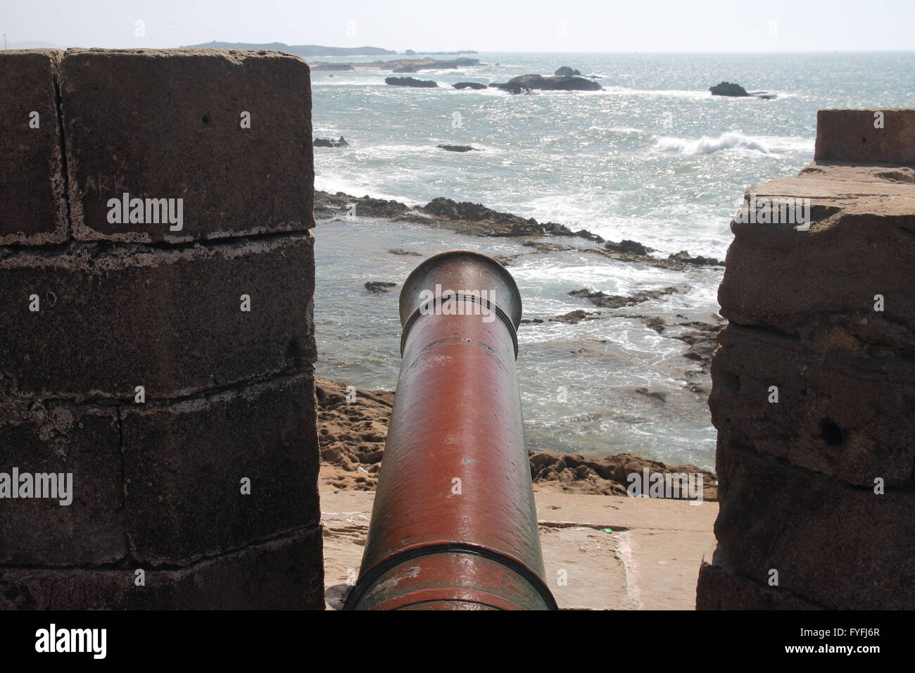 Fortifications of Essaouira - Stock Image