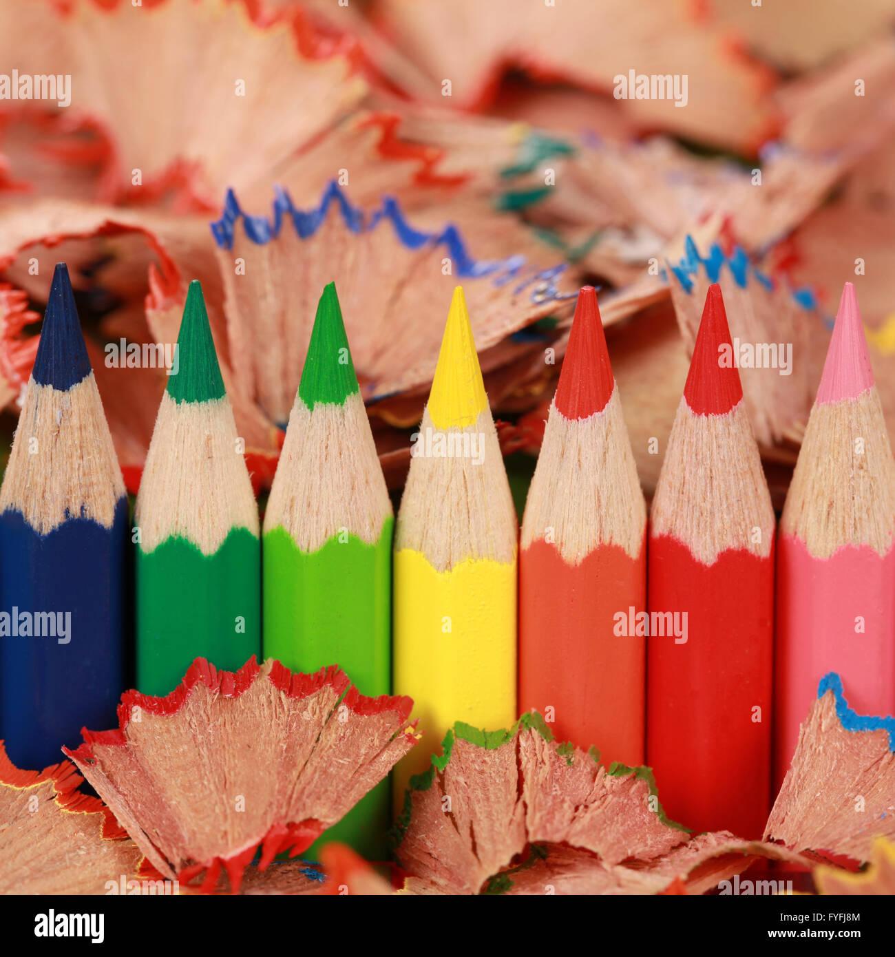 Buntstifte Stock Photo