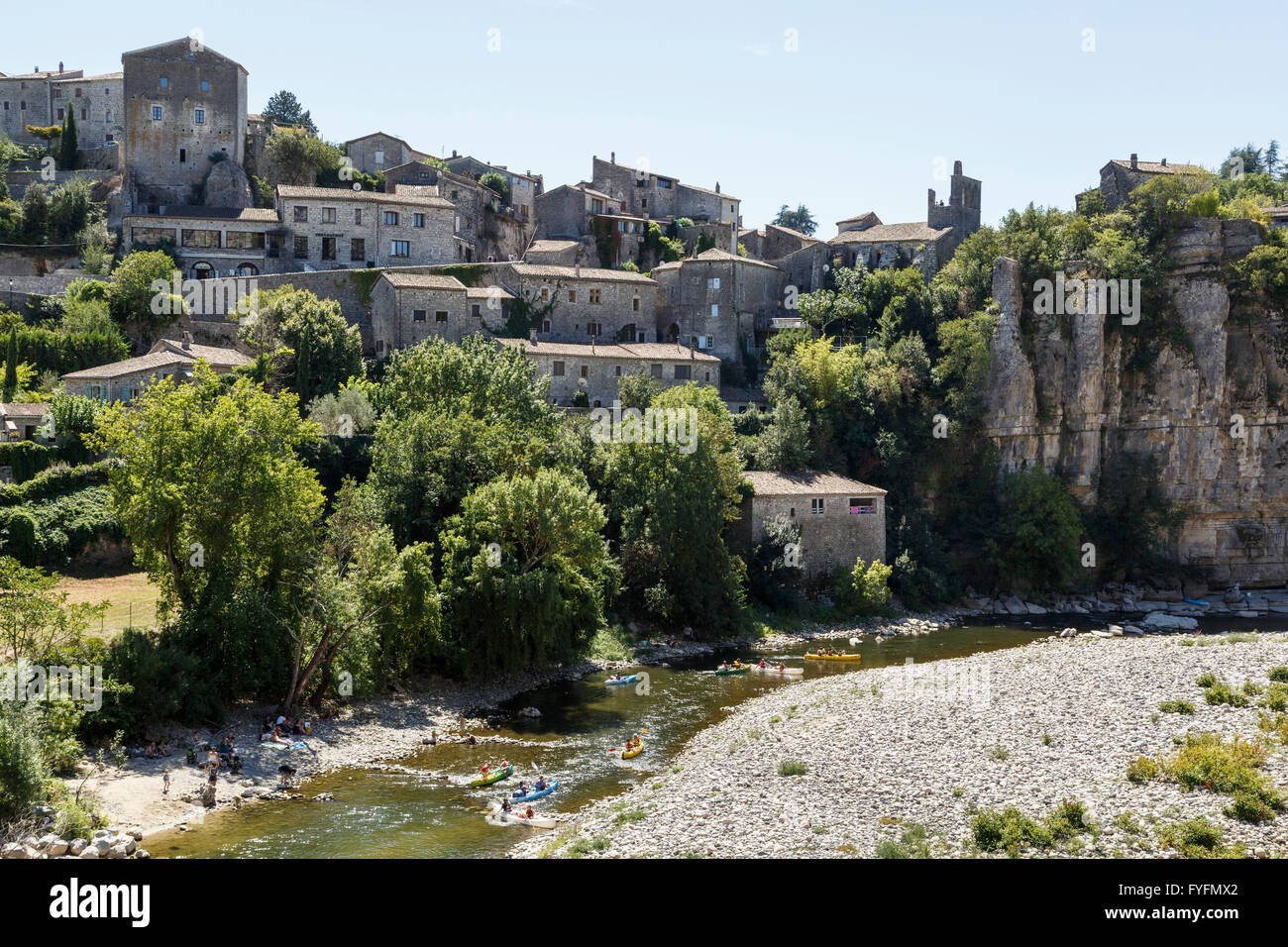 Balazuc, Ardèche, France - Stock Image