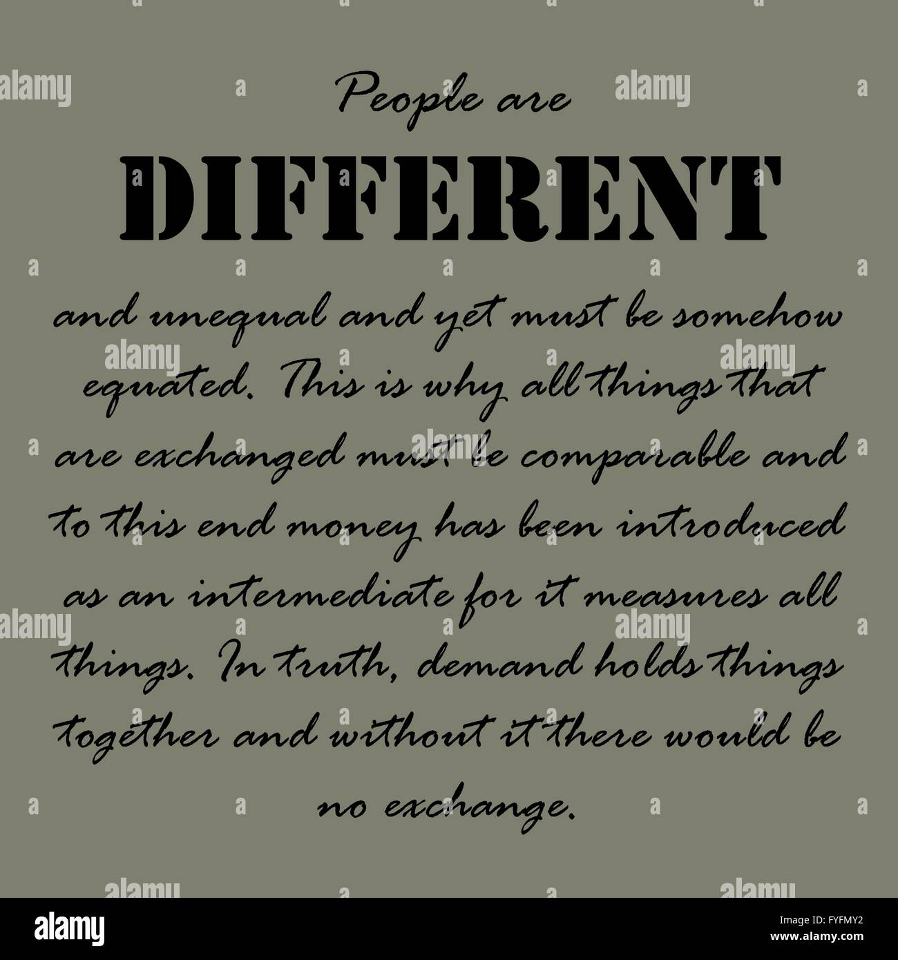 Aristotle Quotes People Are Different And Stock Vector Art