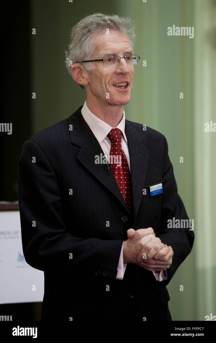 Duncan Macniven Registrar General of Scotland gives a speech in the Adam Dome. Edinburgh.  Pic Pako Mera - Stock Image