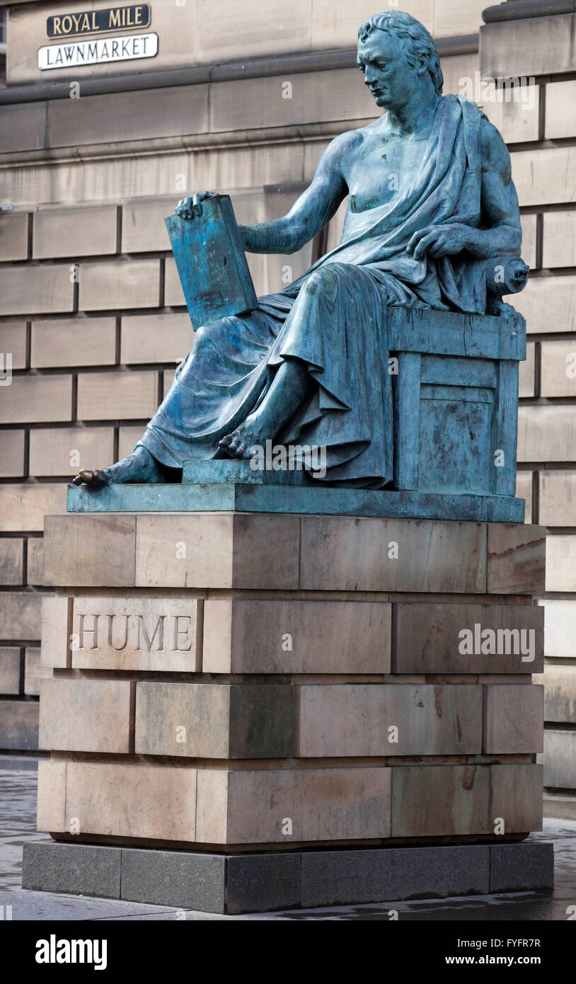 David Hume, (7 May 1711- 25 Aug 1776) Scottish philosopher, economist, hitorian and essayist. This photo has been - Stock Image
