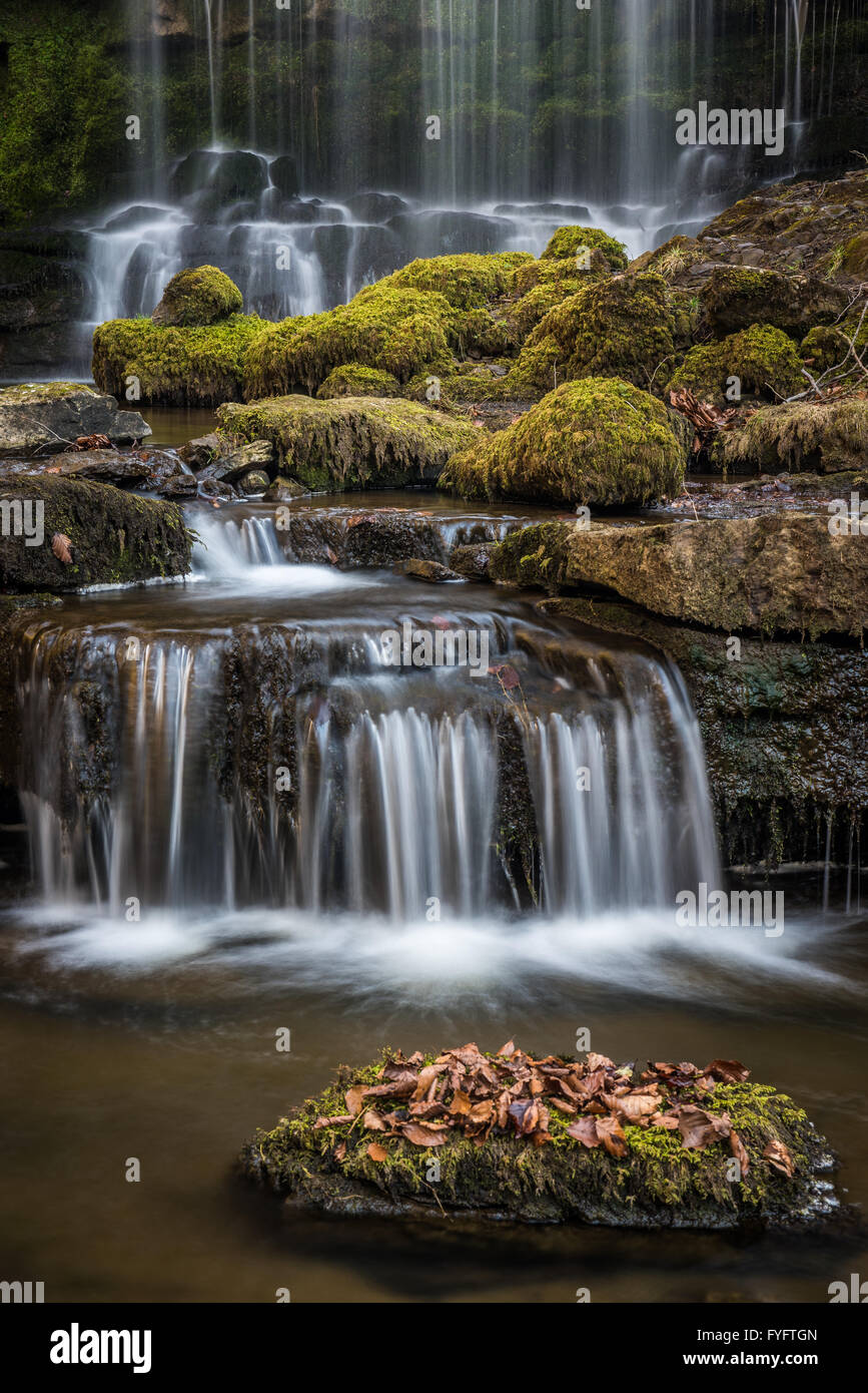 Yorkshire Waterfall at Scalebar force - Stock Image