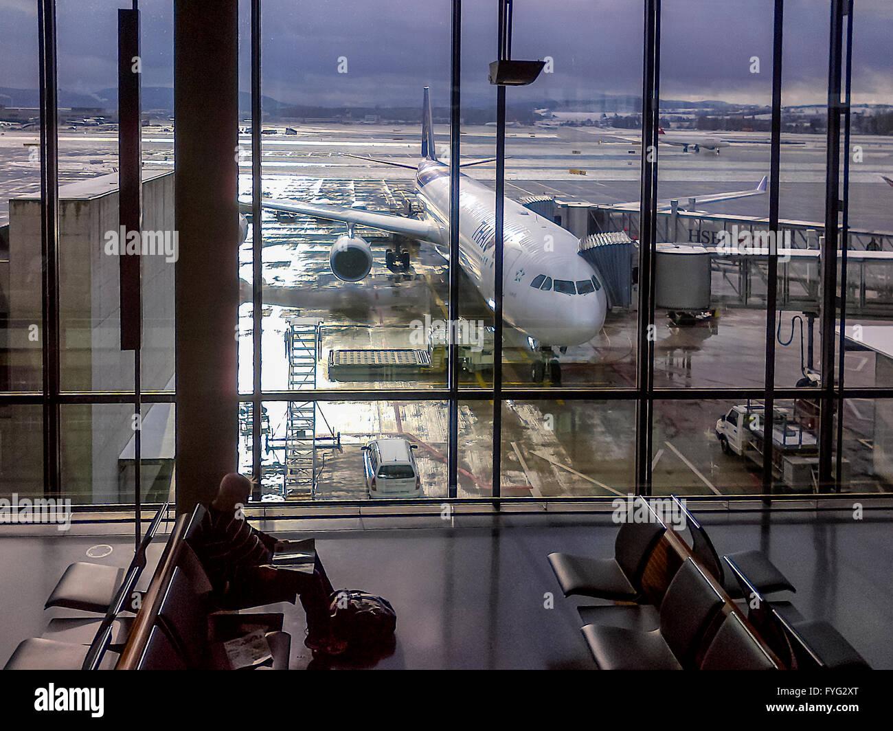 Zurich International Airport. Switzerland - Stock Image