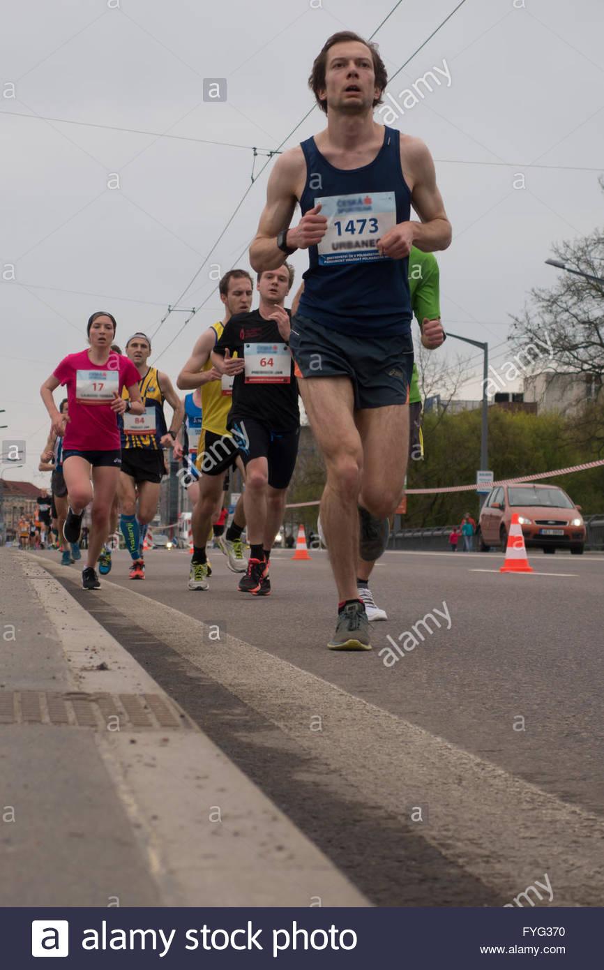 marathon runners - Stock Image