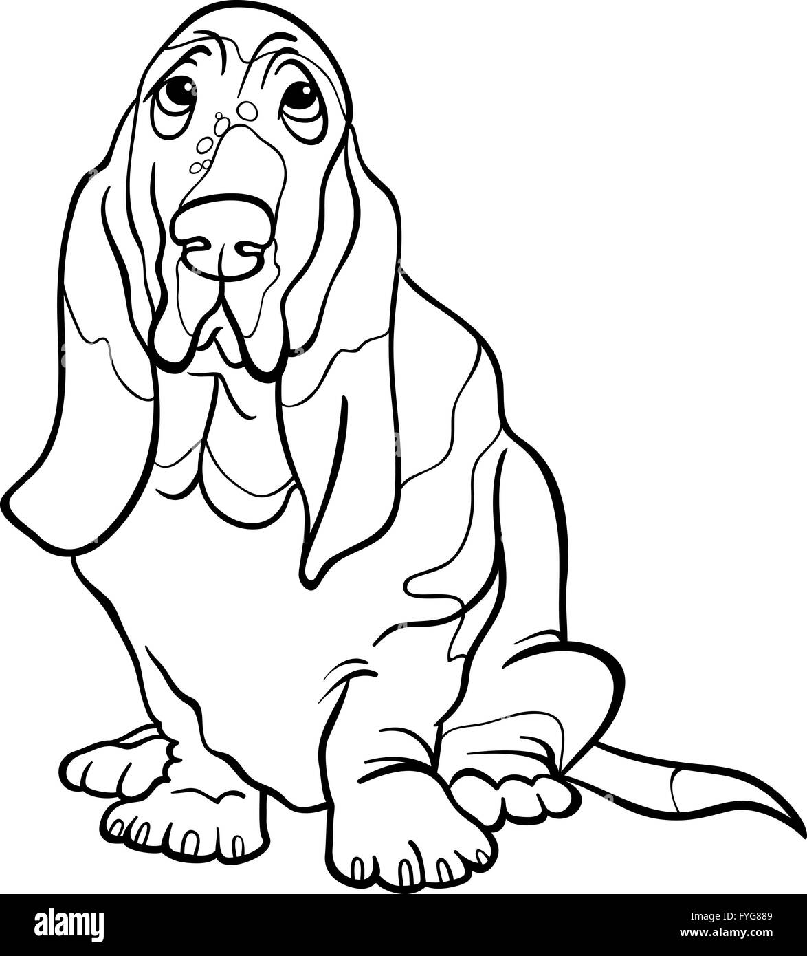 bassett coloring pages - photo#7