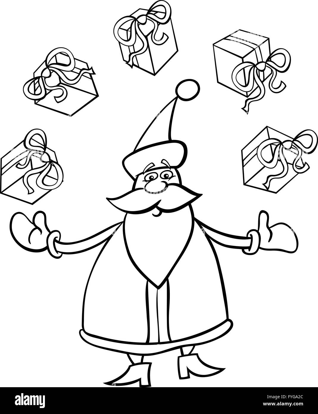 Santa Claus Cartoon For Coloring Stock Photo 103006692 Alamy