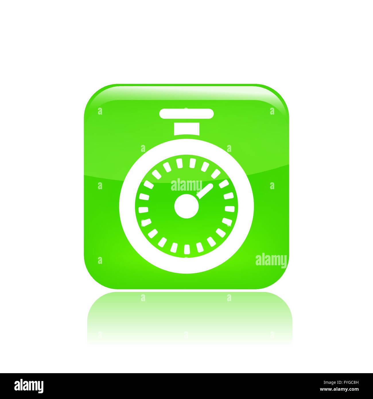 Vector illustration of chronometer icon - Stock Image