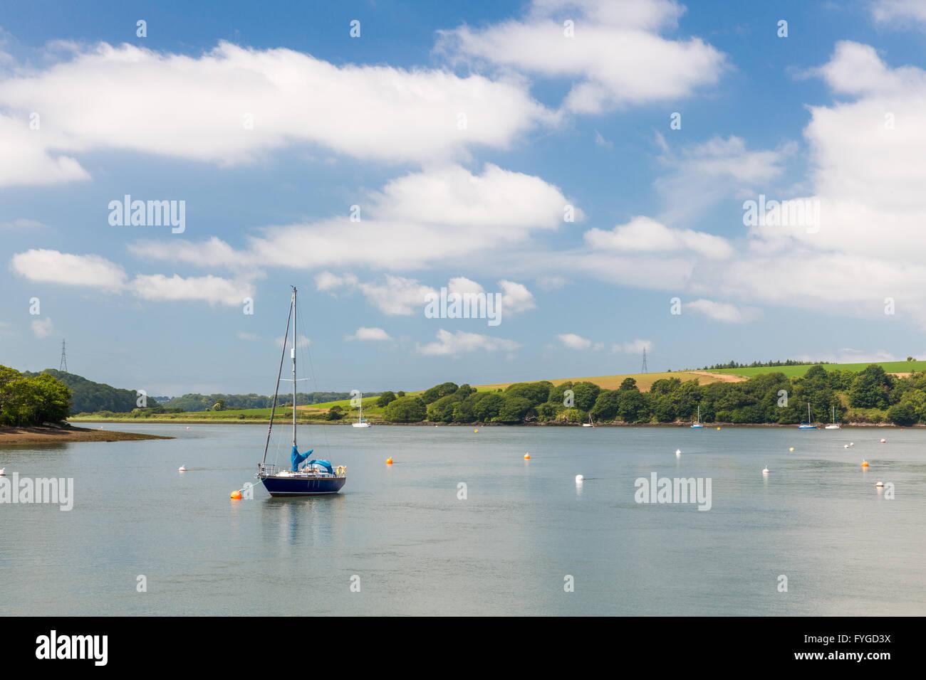 Lawrenny Quay - Pembrokeshire - Stock Image
