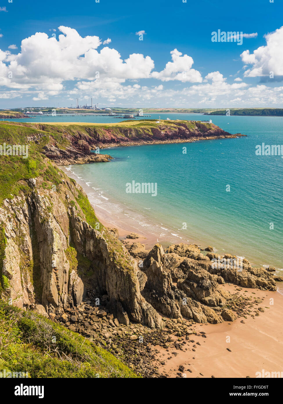 Lindsway Bay and the Milford Haven waterway - Pembrokeshire - Stock Image