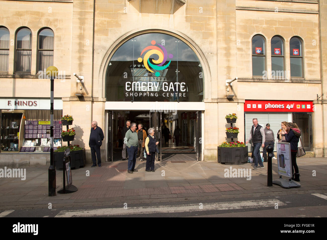 Emery Gate shopping centre in town  centre of Chippenham, Wiltshire, England, UK - Stock Image