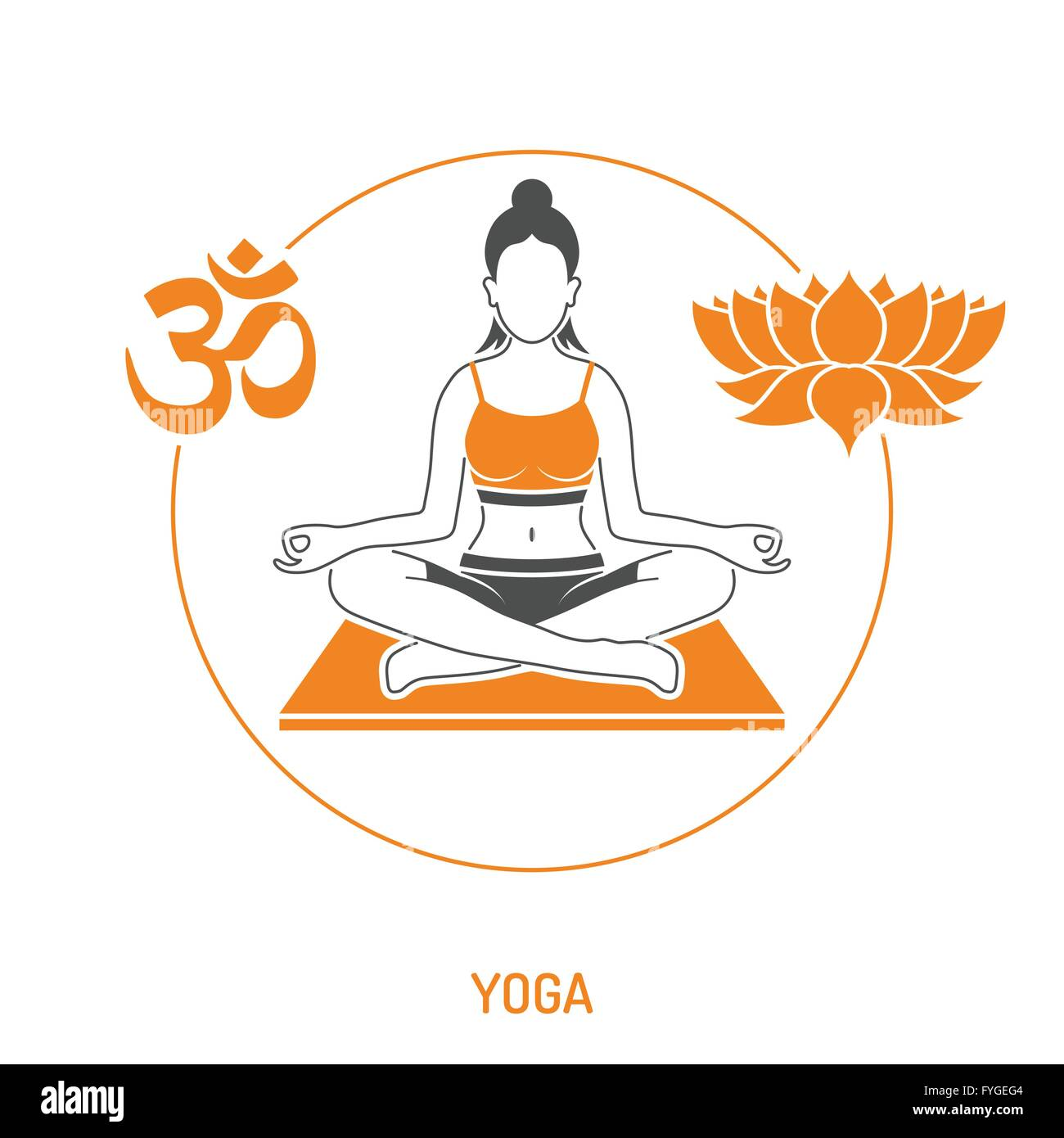 Yoga and Fitness Concept - Stock Image