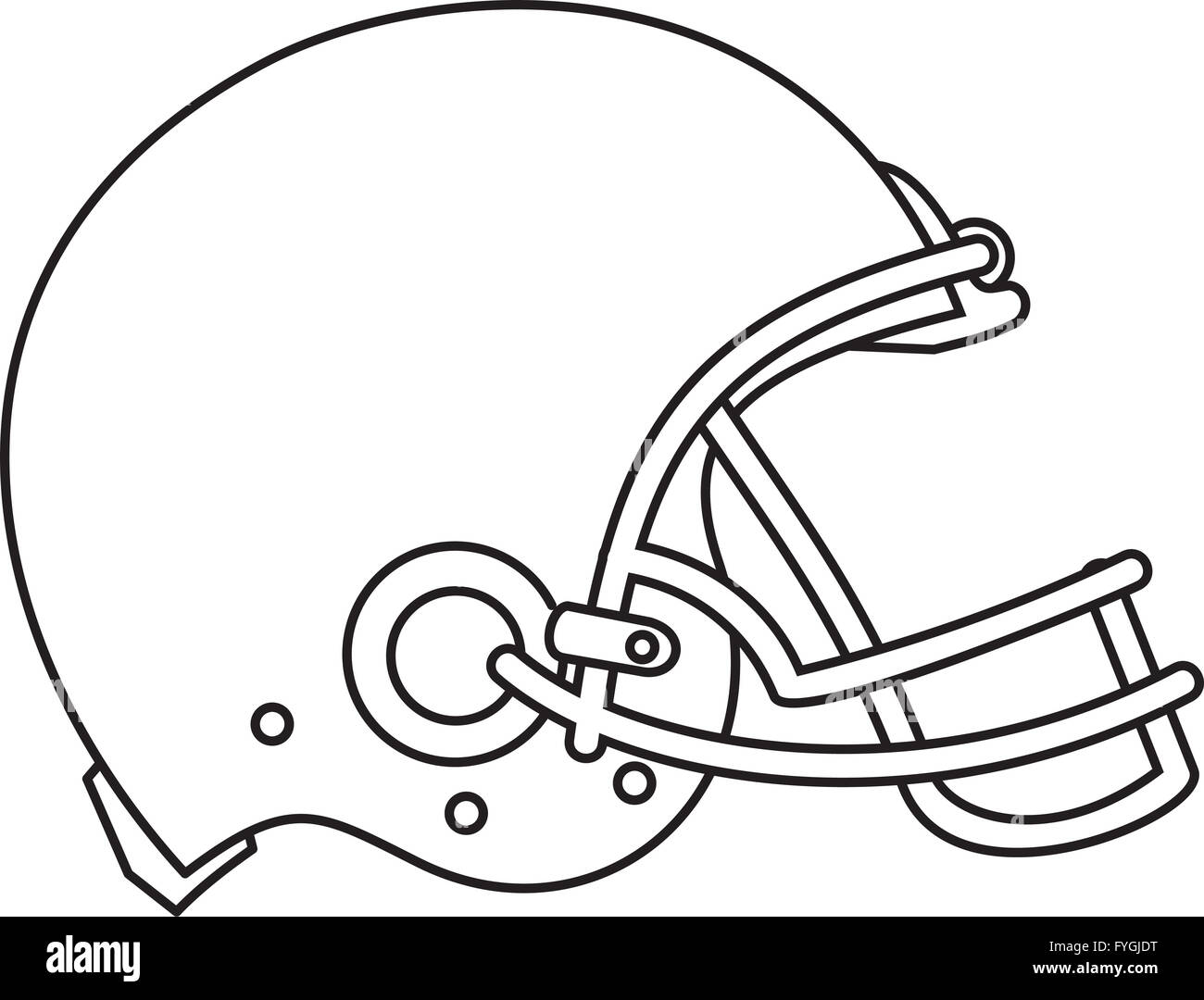 American Football Helmet Line Drawing Stock Photo 103013284 Alamy