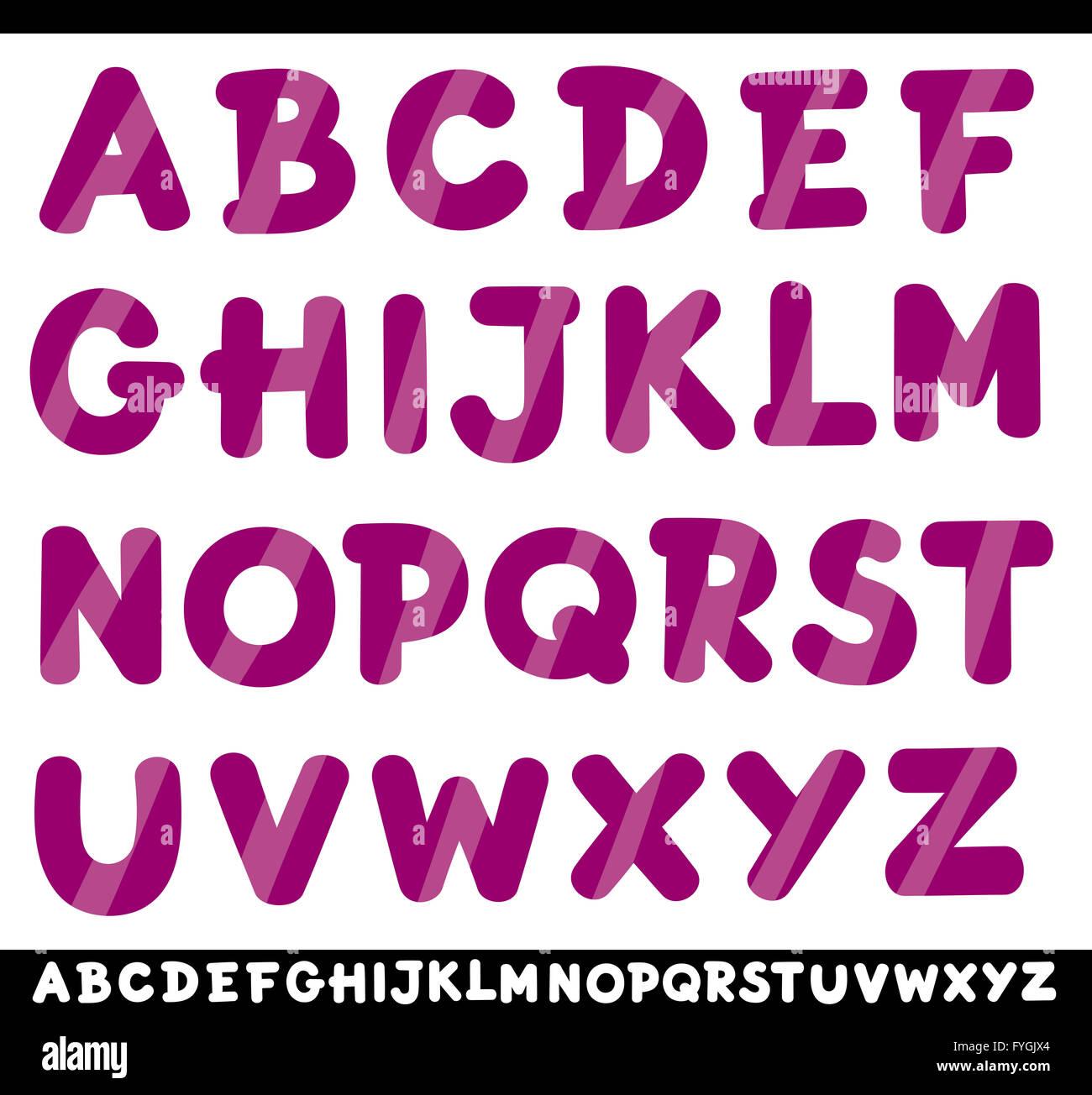 Alphabet Letters Cartoon Stock Photos & Alphabet Letters Cartoon ...
