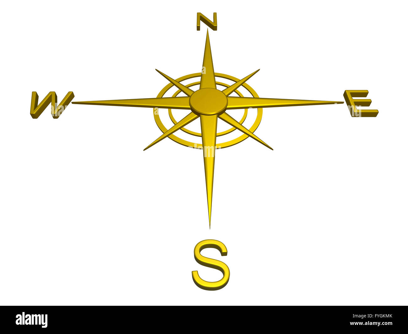 Gold compass, directions, travel Stock Photo