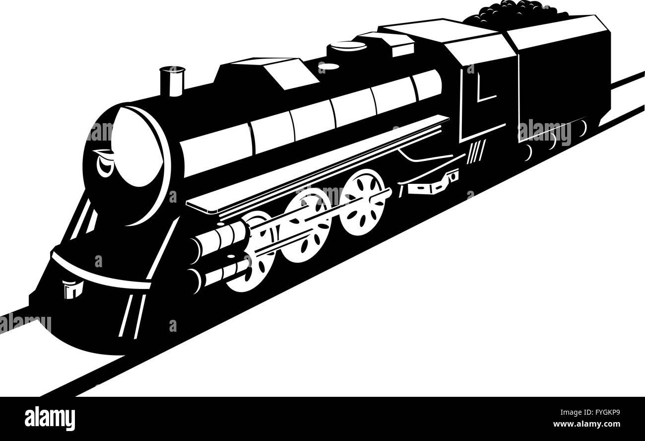 vintage steam train locomotive Stock Photo