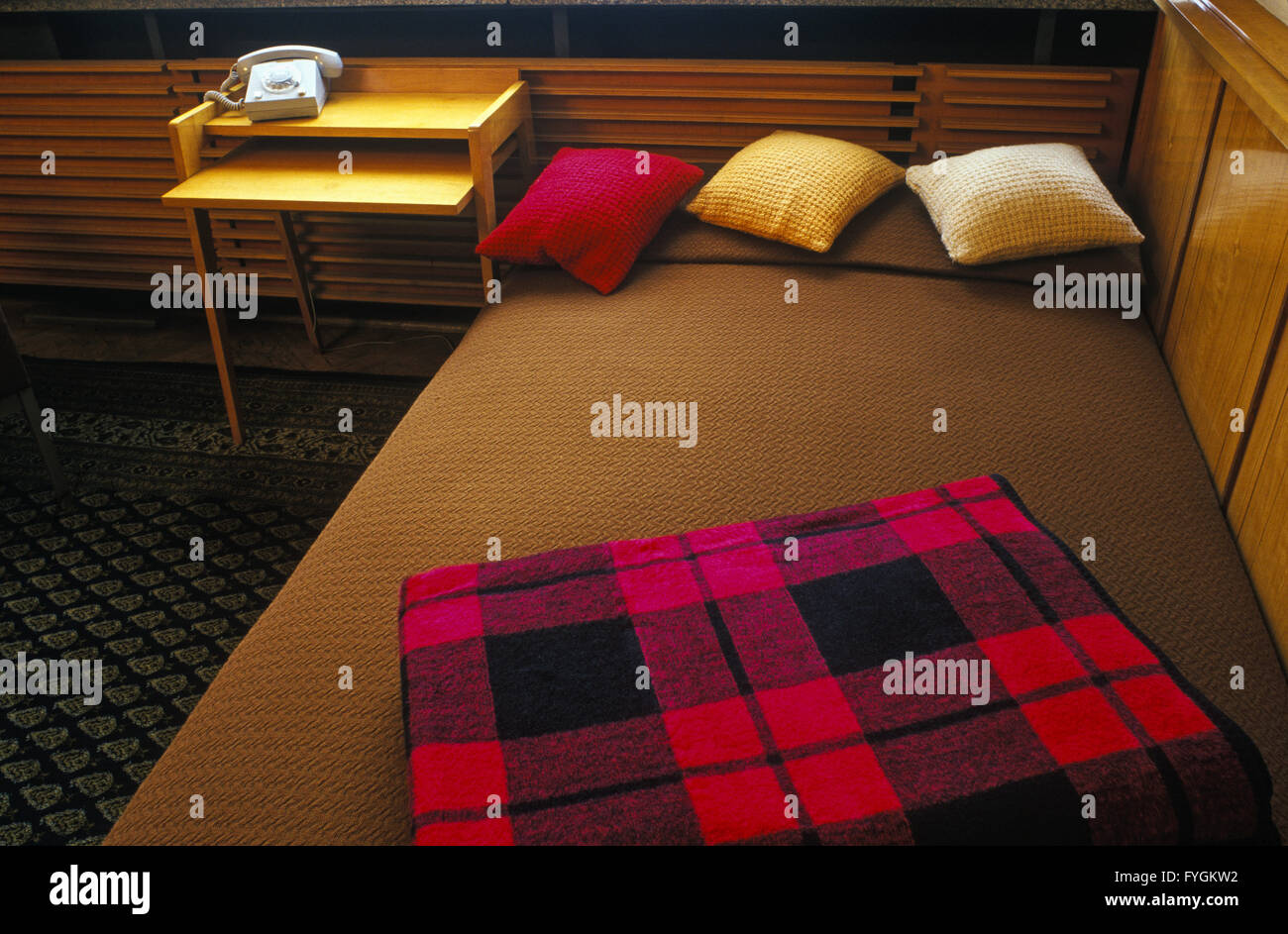 Bed couch of Erich Mielke, Stasi Museum, Berlin - Stock Image