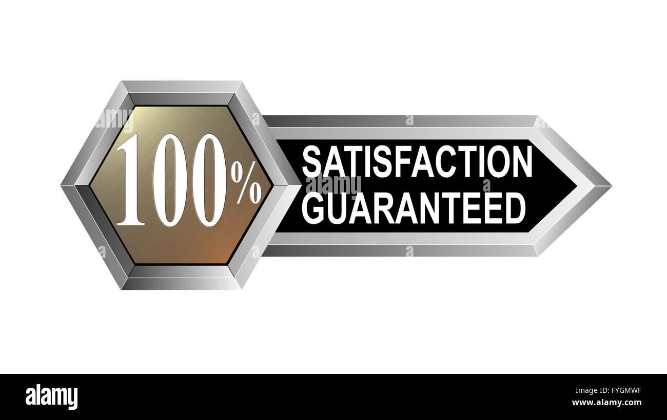 100% Satisfaction Guaranteed Hexagon Seal - Stock Image