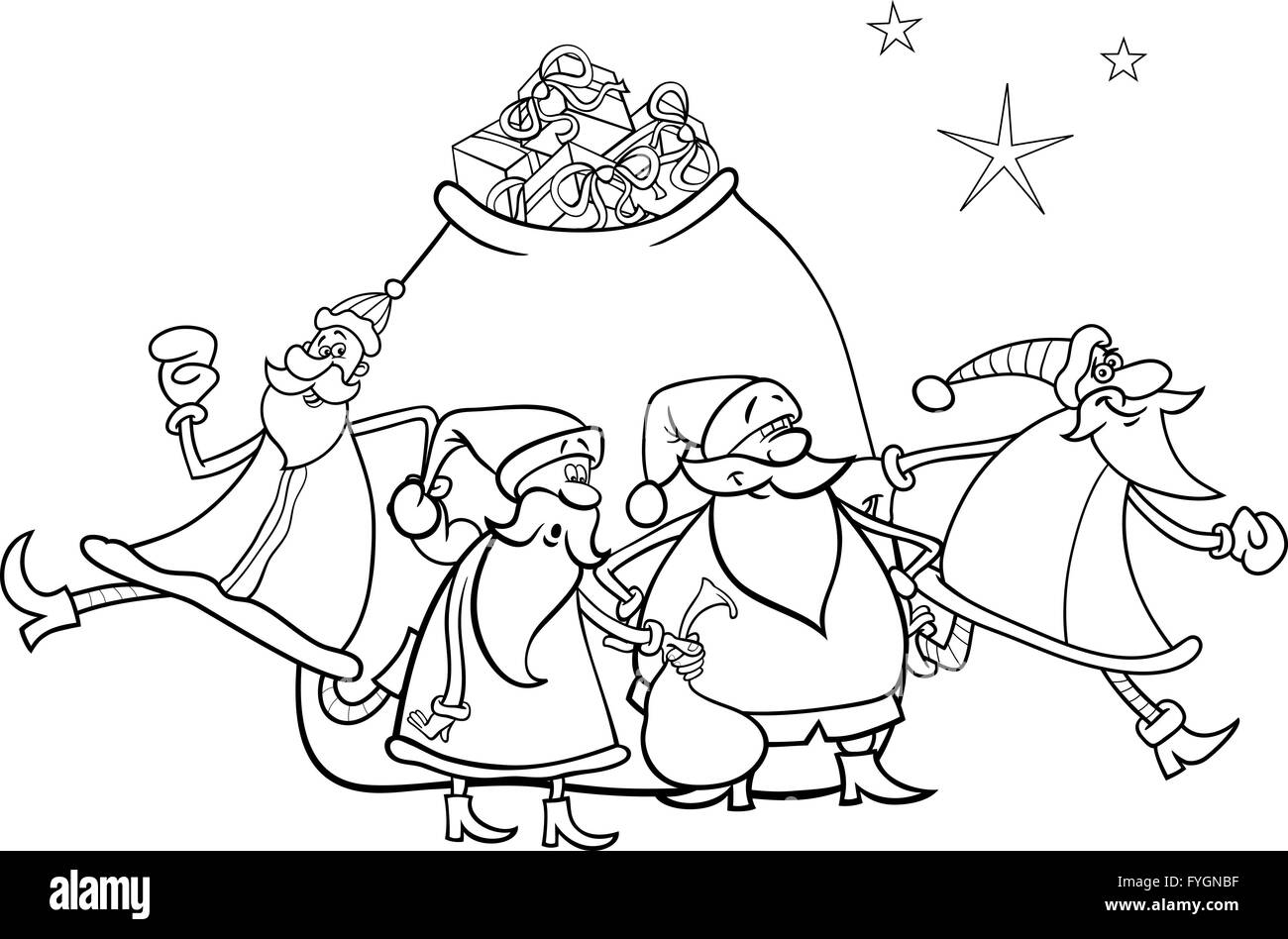 Free Printable Santa Claus Coloring Pages For Kids | 948x1300