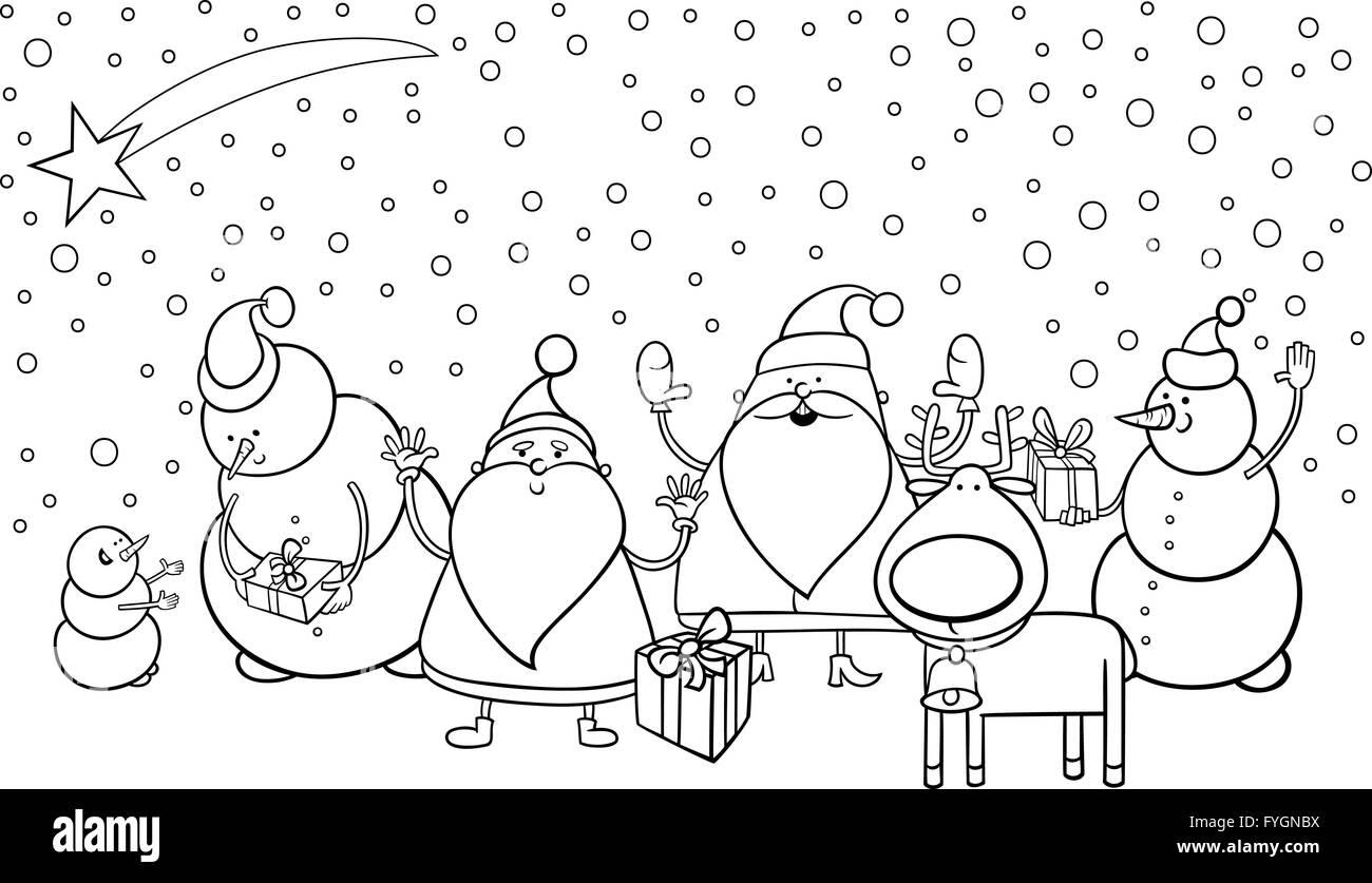 Funny Christmas Characters Stock Photos Funny Christmas Characters
