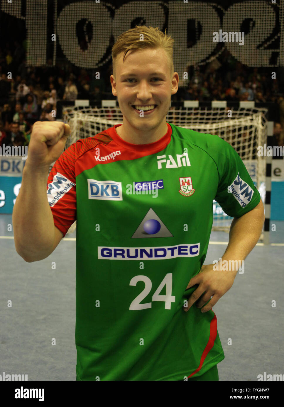 Tim Ackermann (SC Magdeburg Saison 2013/14) - Stock Image