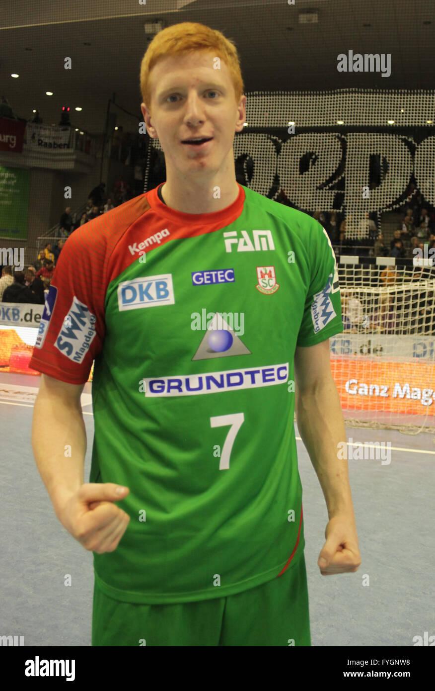 Tomasz Gebala (SC Magdeburg Saison 2013/14) - Stock Image