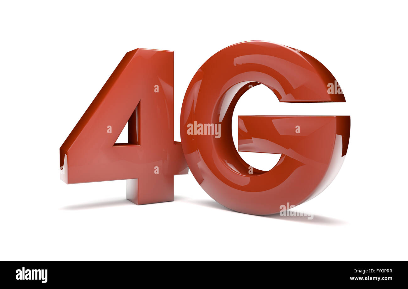 render of the text 4g - Stock Image