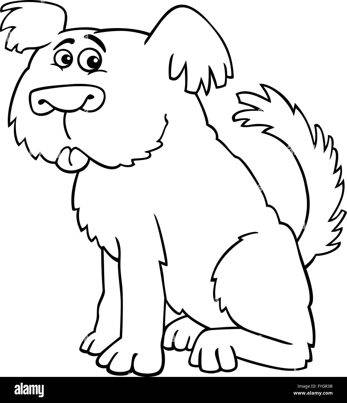 Sheepdog Dog Coloring Book Stock Photos & Sheepdog Dog Coloring Book ...