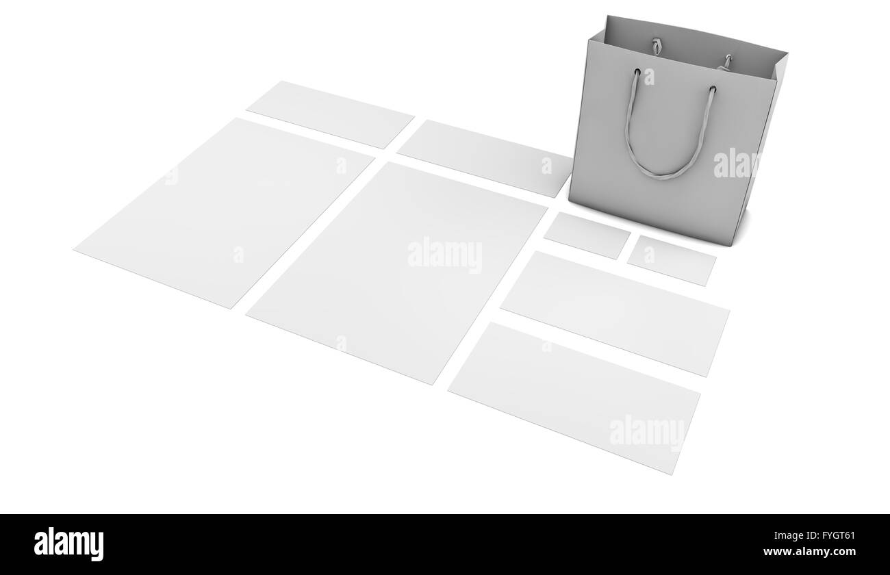 render of a visual identity template - Stock Image