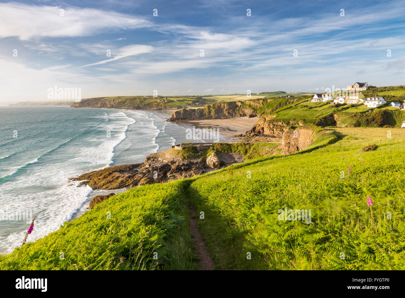 Little & Broad Haven on west coast of Pembrokeshire - Stock Image