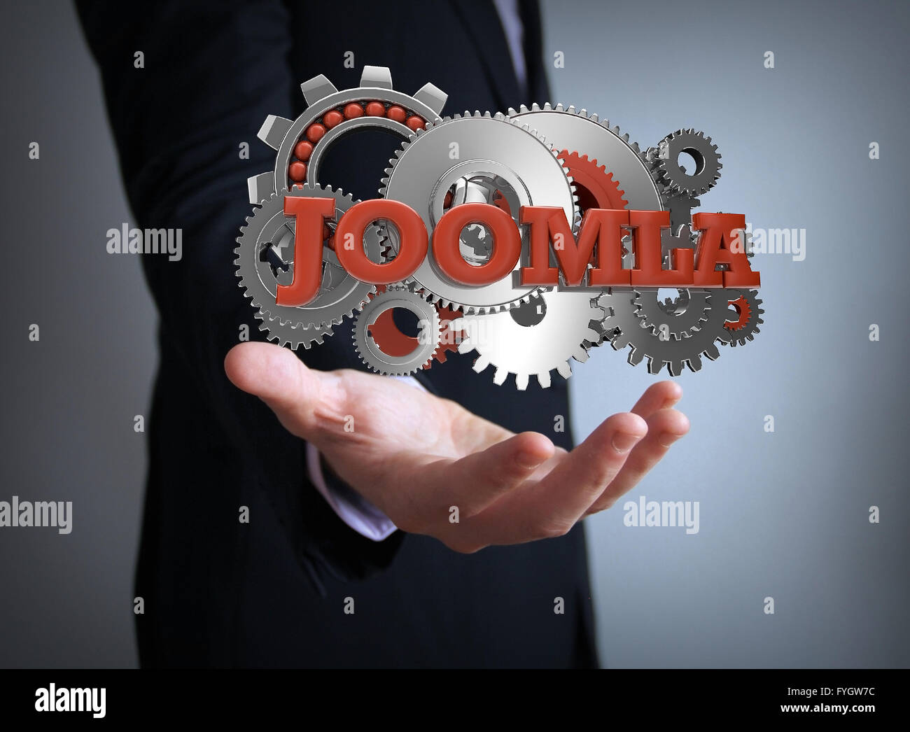 joomla coding businessman - Stock Image