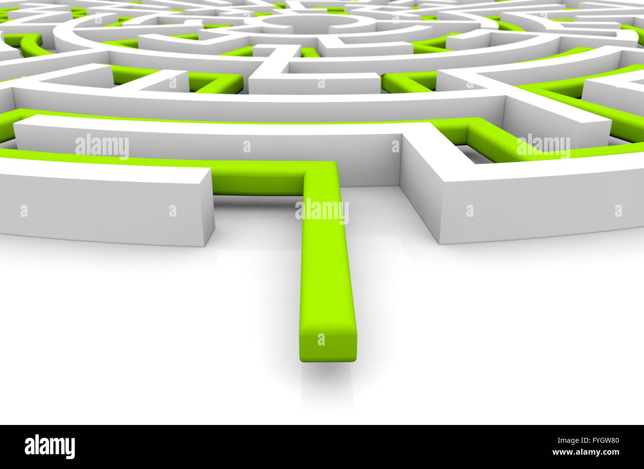 adversity concept: render of a maze - Stock Image