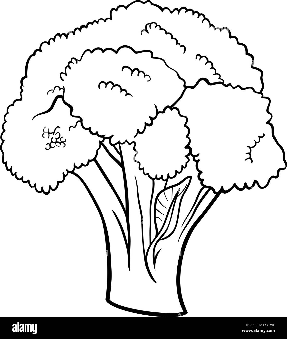 broccoli vegetable cartoon for coloring book Stock Photo: 103020107 ...