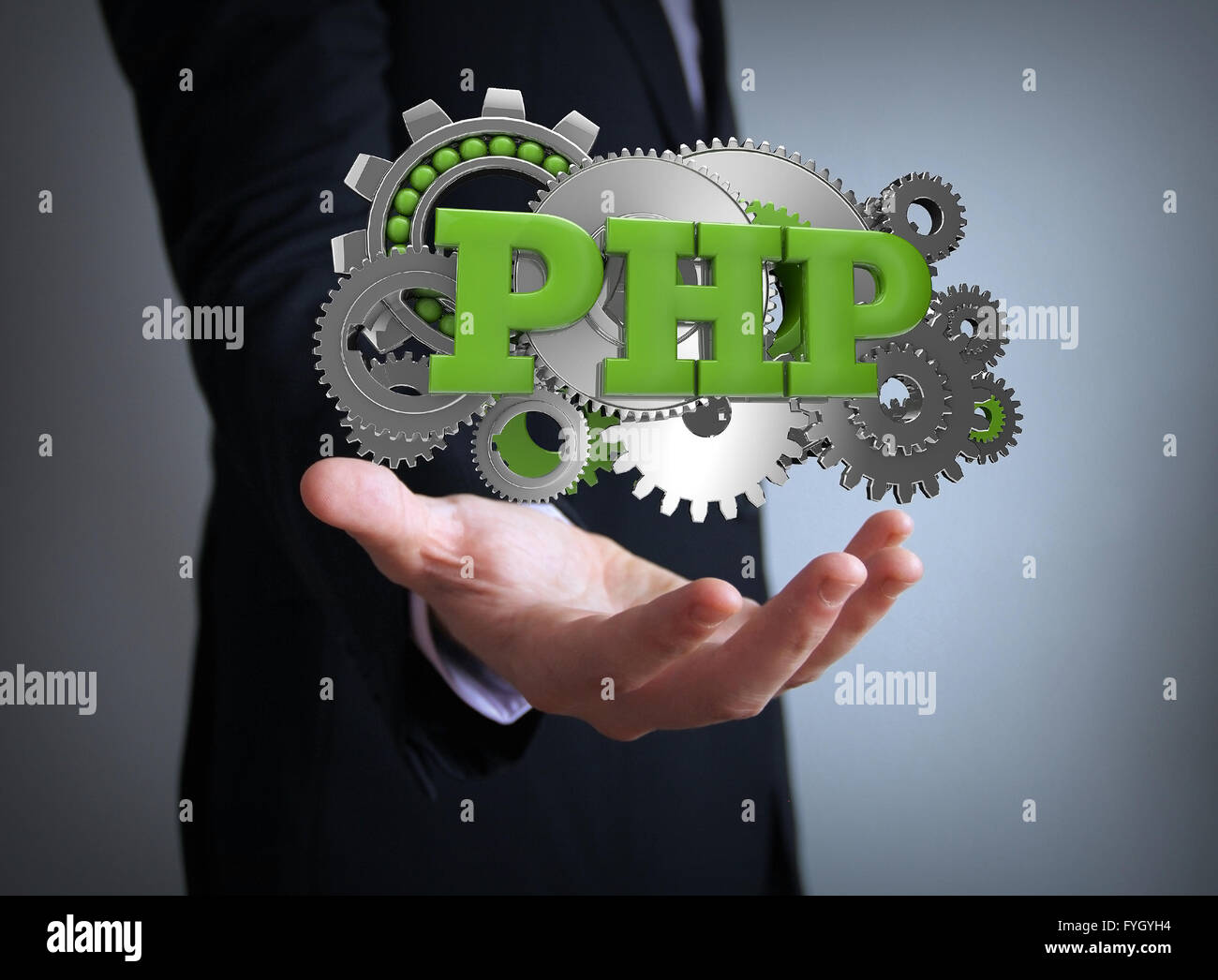 perl coding businessman - Stock Image