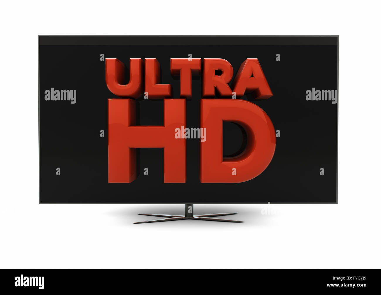 render of the text ultra hd on a screen - Stock Image