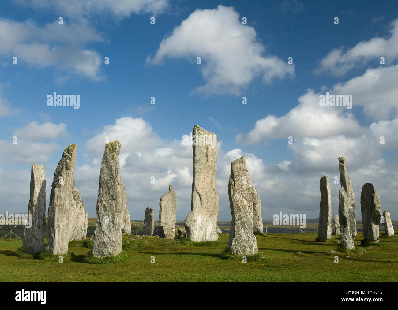 Callanish Stone Circle, Isle of Lewis, Outer Hebrides, Scotland - Stock Image