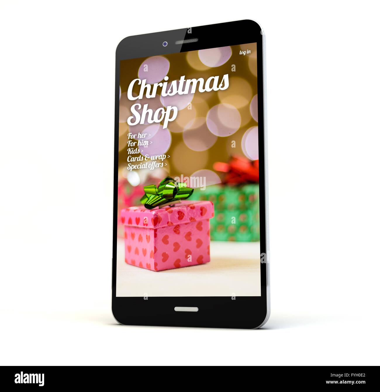 Christmas Shopping App Screen Stock Photos & Christmas Shopping App ...