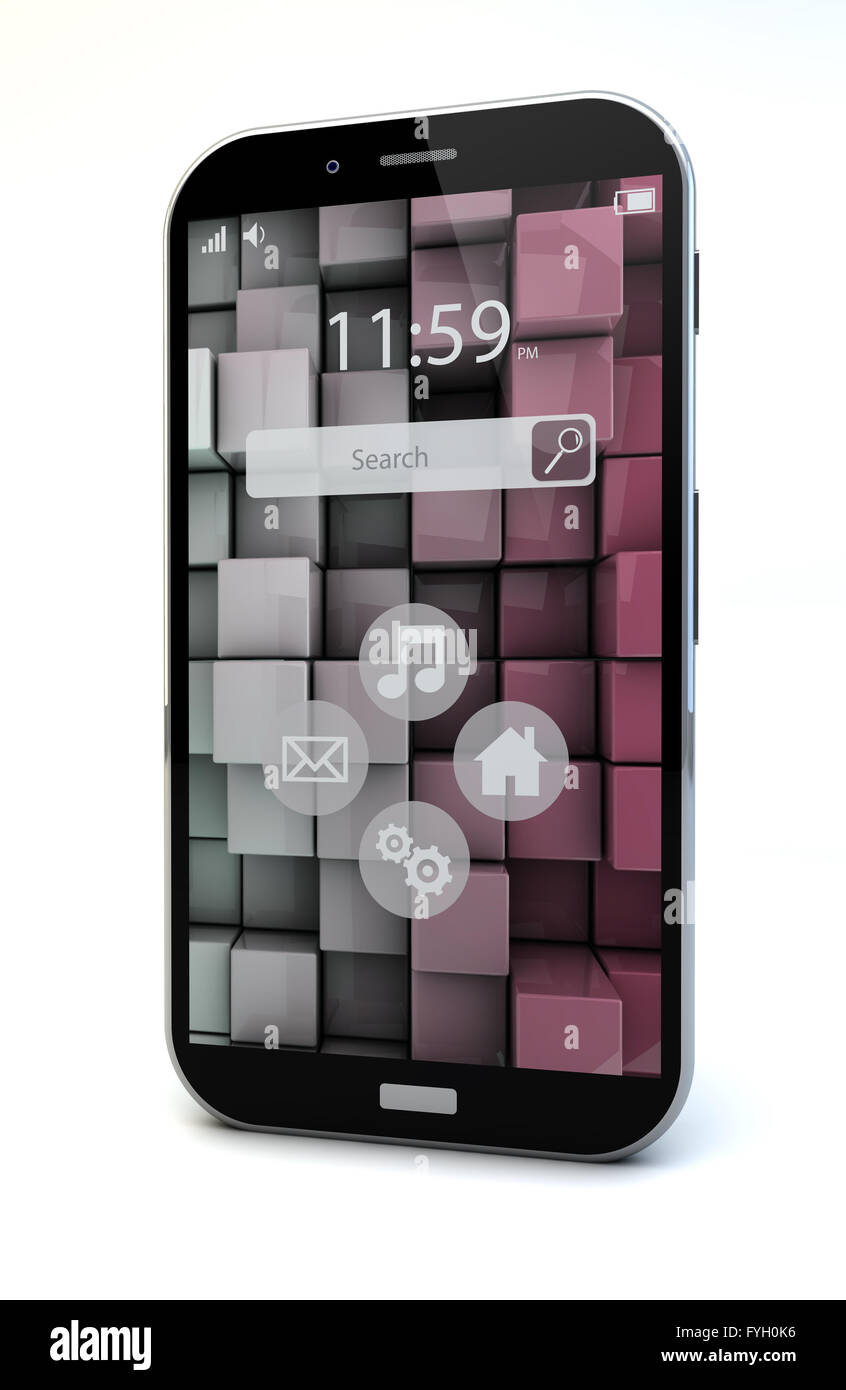 mobility concept: touchscreen smartphone - Stock Image