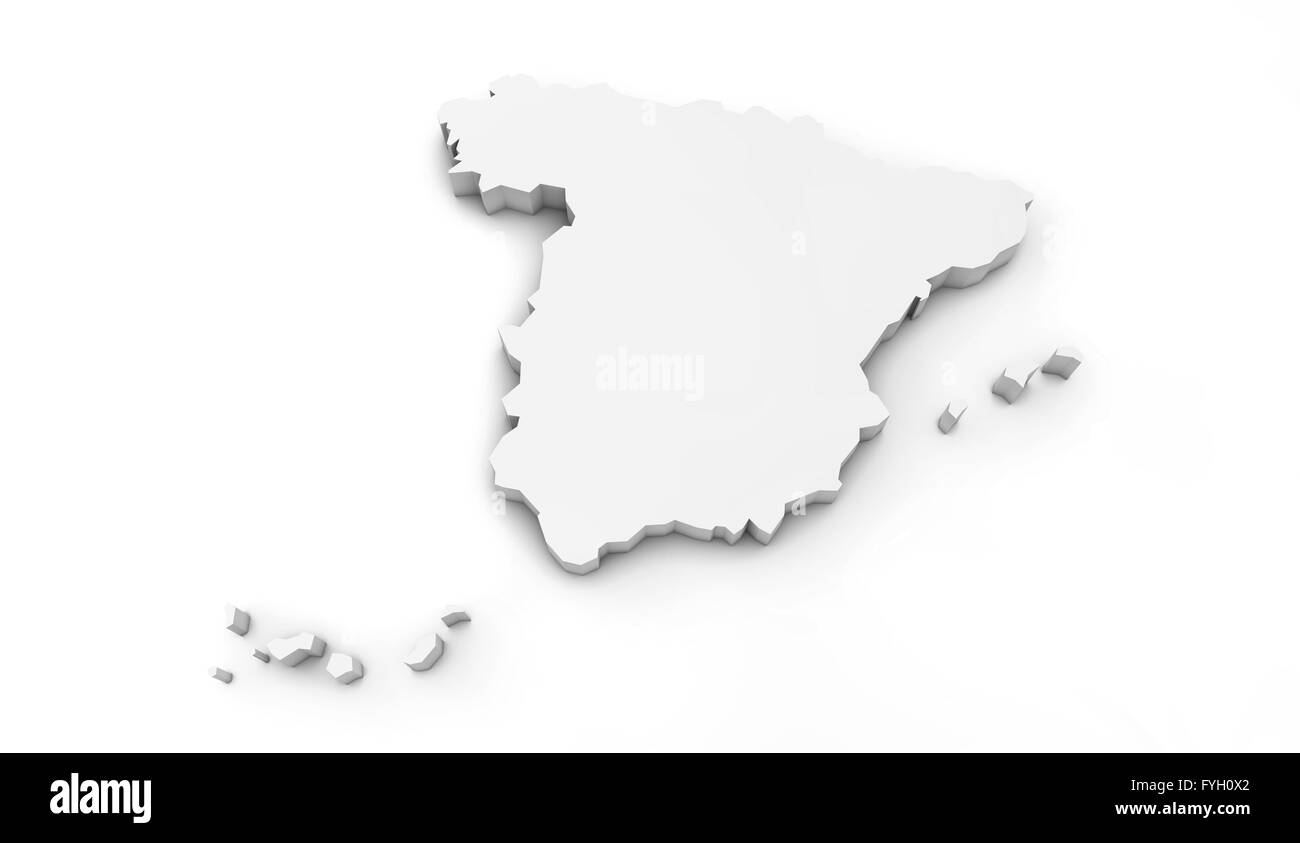 3d Map Of Spain.Render Of A Spain 3d Map Stock Photo 103021466 Alamy