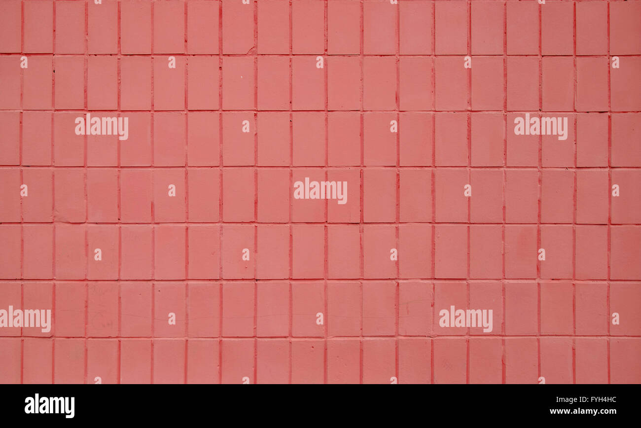 pink painted ceramic tile wall pattern texture background stock