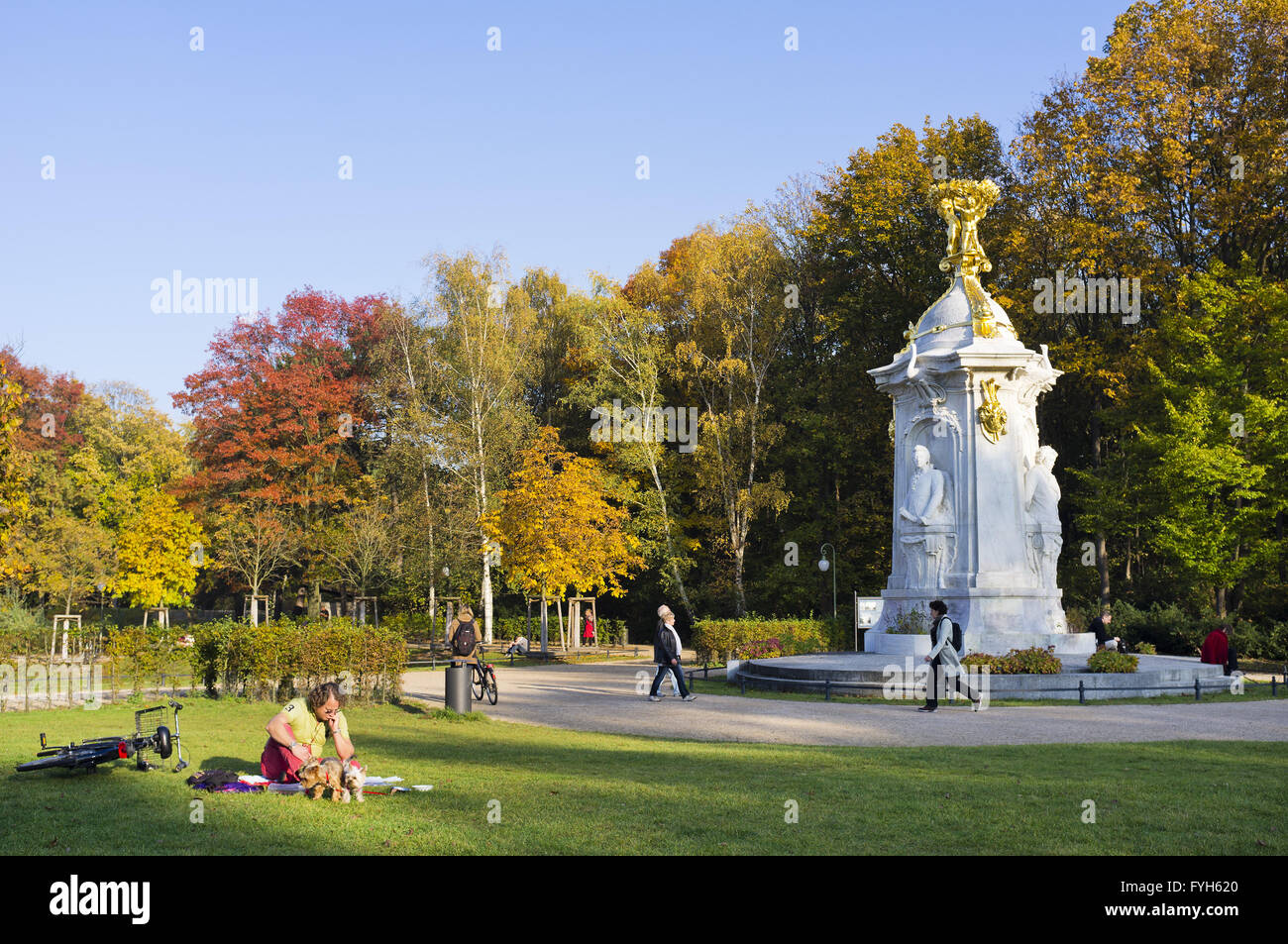 Beethoven-Haydn-Mozart Monument, Berlin, Germany - Stock Image
