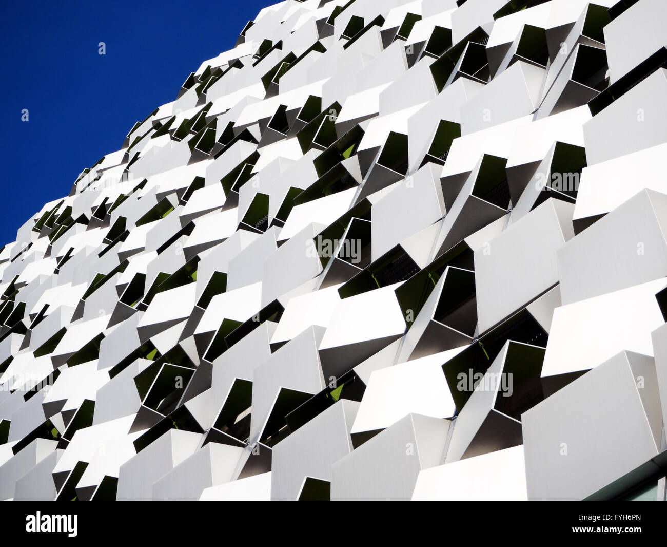 Cheesegrater car park building modern architecture in the city centre at Sheffield South Yorkshire England - Stock Image