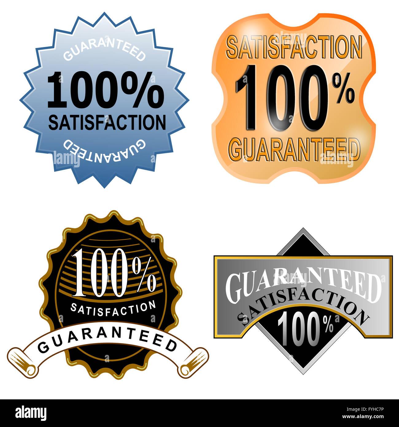100% Satisfaction Guaranteed - Stock Image