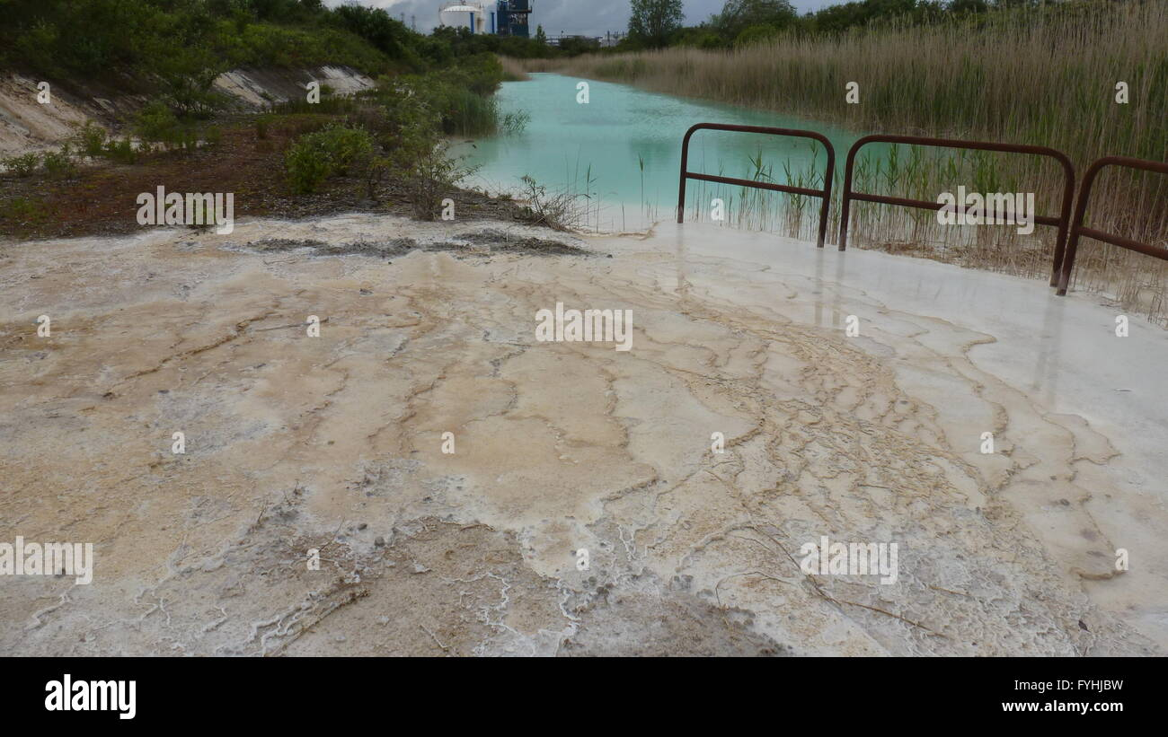 polluted water - Stock Image