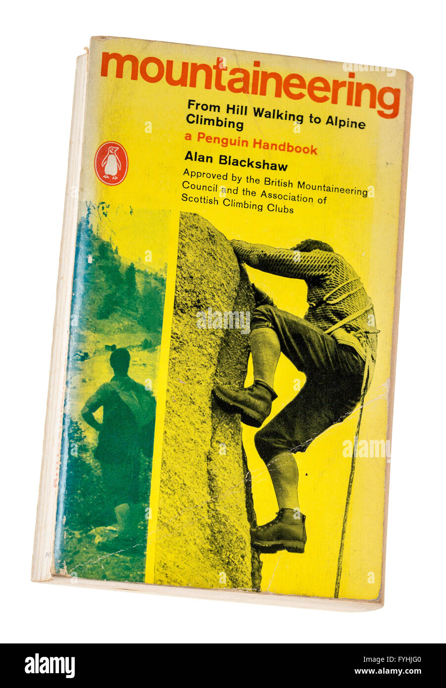 Classic mountaineering instruction handbook by Alan Blackshaw published by Penguin in the 1960s - Stock Image