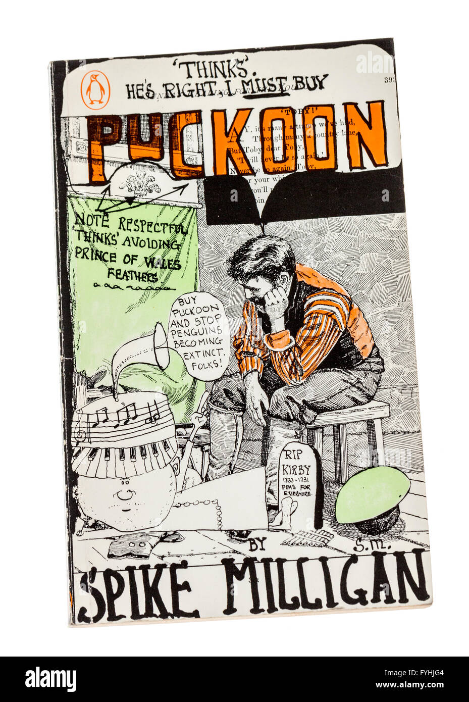 Old paperback book Puckoon by Spike Milligan published by Penguin - Stock Image